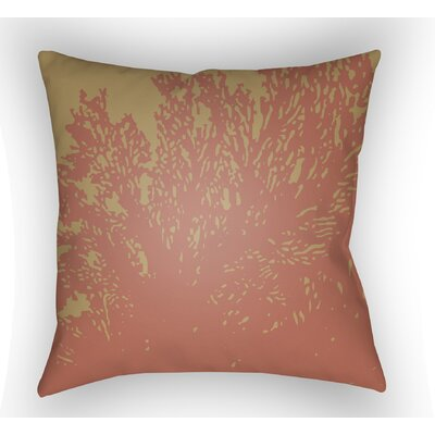 Broadbent Square Throw Pillow Size: 18 H x 18 W x 4 D, Color: Coral