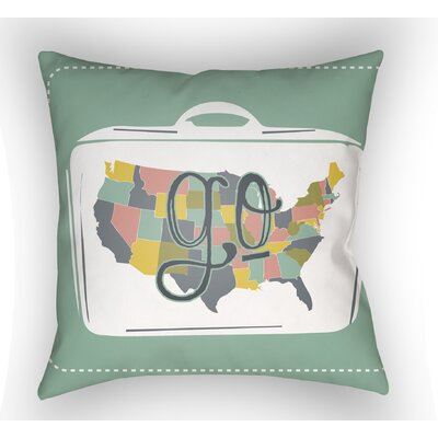 Bainum Go Throw Pillow Size: 18 H x 18 W x 4 D, Color: Green