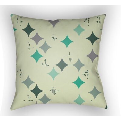Wakefield Geometric Throw Pillow Size: 18 H x 18 W x 4 D, Color: Green