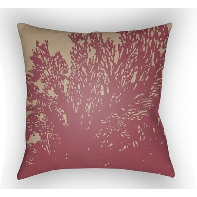 Broadbent Square Throw Pillow Size: 18 H x 18 W x 4 D, Color: Red