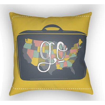 Bainum Go Throw Pillow Color: Yellow, Size: 22 H �x 22 W x 5 D