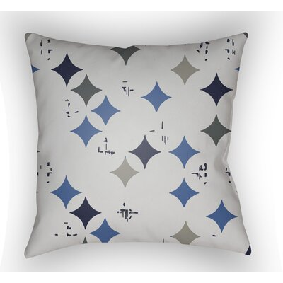 Wakefield Geometric Throw Pillow Size: 20 H x 20 W x 4 D, Color: Blue