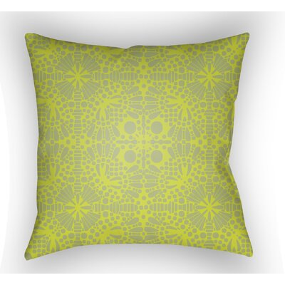 Zanuck Throw Pillow Color: Lime, Size: 22 H �x 22 W x 5 D