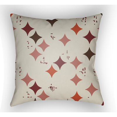 Wakefield Geometric Throw Pillow Size: 18 H x 18 W x 4 D, Color: Red