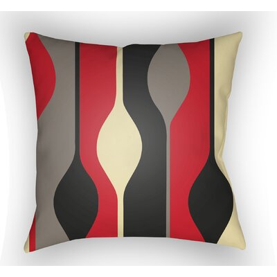 Wakefield Indoor Throw Pillow Color: Red, Size: 20 H x 20 W x 4 D
