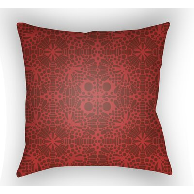 Zanuck Throw Pillow Size: 18 H x 18 W x 4 D, Color: Red