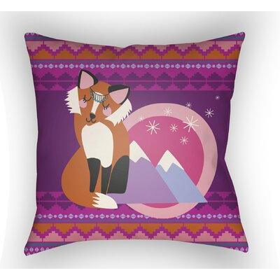 Colinda Fox Throw Pillow Size: 18 H x 18 W x 4 D, Color: Magenta