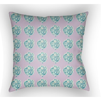 Cassidy Floral Throw Pillow Color: Purple, Size: 20 H x 20 W x 4 D
