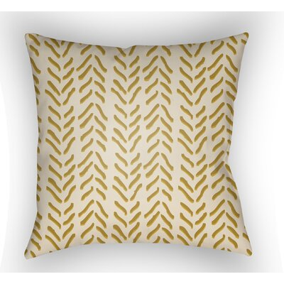 Broadbent Indoor Throw Pillow Size: 20 H x 20 W x 3.5 D, Color: Yellow