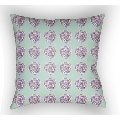 Cassidy Floral Throw Pillow Size: 18 H x 18 W x 4 D, Color: Mint