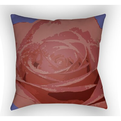 Virgil Flower Throw Pillow Size: 20 H x 20 W x 4 D, Color: Red