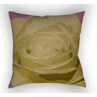 Virgil Flower Throw Pillow Size: 18 H x 18 W x 4 D, Color: Yellow