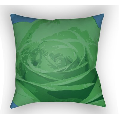 Virgil Flower Throw Pillow Color: Green, Size: 22 H x 22 W x 5 D