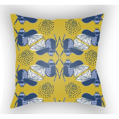 Colindale Square Throw Pillow Color: Yellow, Size: 20 H x 20 W x 4 D