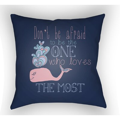 Collie Blue Square Throw Pillow Size: 18 H x 18 W x 4 D