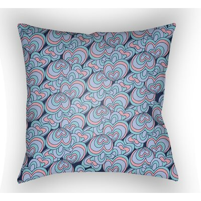 Collie Blue Pink Coastal Throw Pillow Size: 22 H x 22 W x 5 D