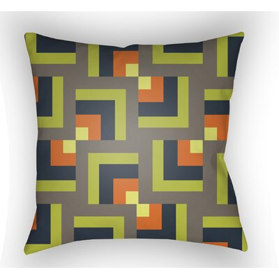 Wakefield Square Indoor Throw Pillow Size: 20 H x 20 W x 5 D, Color: Grey/Lime