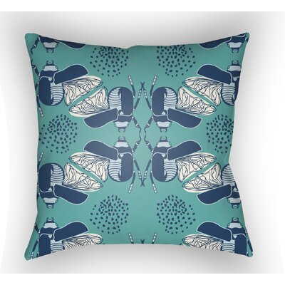 Colindale Square Throw Pillow Color: Turquoise, Size: 22 H �x 22 W x 5 D