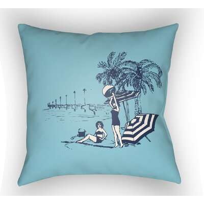 Collie Blue Throw Pillow Size: 18 H x 18 W x 4 D