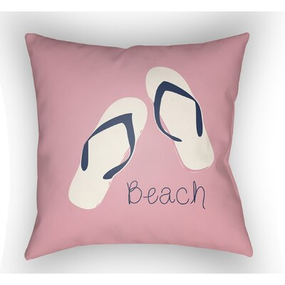 Collie B?ach Throw Pillow Size: 22 H �x 22 W x 5 D, Color: Pink