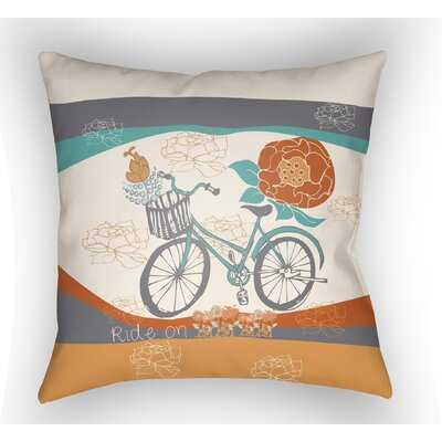 Colindale Bicycle Throw Pillow Size: 18 H x 18 W x 4 D, Color: White