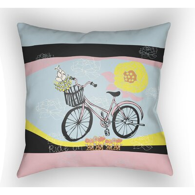 Colindale Bicycle Throw Pillow Size: 20 H x 20 W x 4 D, Color: Light Blue