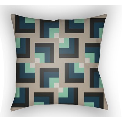 Wakefield Square Indoor Throw Pillow Size: 20 H x 20 W x 5 D, Color: Grey/Turquoise