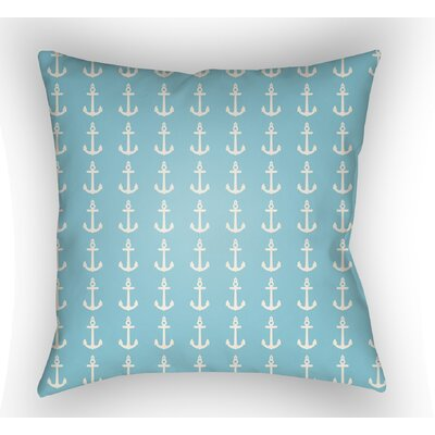 Collie Anchor Throw Pillow Size: 18 H x 18 W x 4 D, Color: Turquoise