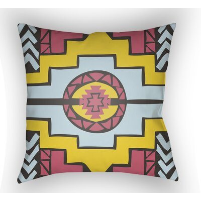 Adamson Indoor Throw Pillow Size: 18 H x 18 W x 4 D, Color: Blue/Yellow