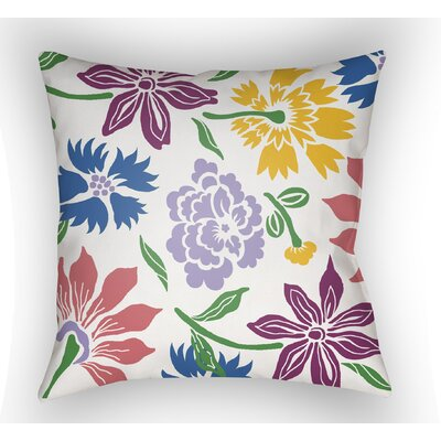 Kammerer Throw Pillow Size: 22 H �x 22 W x 5 D, Color: White/Purple