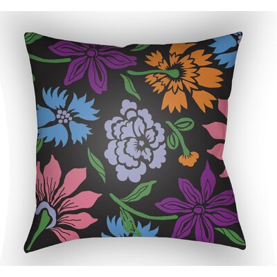 Kammerer Throw Pillow Size: 18 H x 18 W x 4 D, Color: Black/Purple