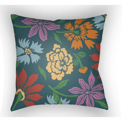 Kammerer Throw Pillow Size: 18 H x 18 W x 4 D, Color: Dark Teal/Yellow