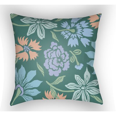 Kammerer Throw Pillow Size: 18 H x 18 W x 4 D, Color: Teal/Purple