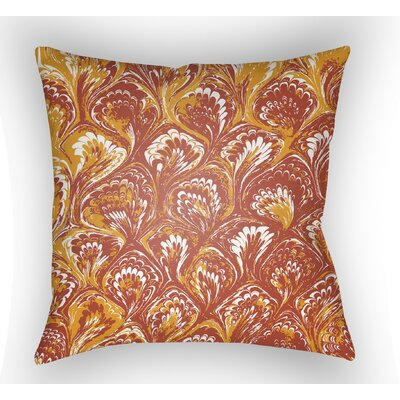Maidstone Throw Pillow Size: 18 H x 18 W x 4 D, Color: Orange