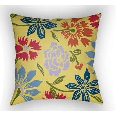 Kammerer Throw Pillow Size: 18 H x 18 W x 4 D, Color: Yellow/Light Purple