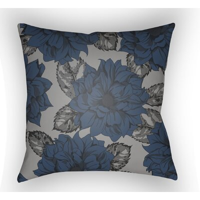 Lyda Square Throw Pillow Color: Blue, Size: 22 H �x 22 W x 5 D