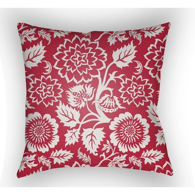 Winston Throw Pillow Size: 20 H x 20 W x 4 D, Color: Red