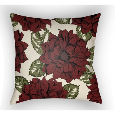 Lyda Square Throw Pillow Size: 18 H x 18 W x 4 D, Color: Red