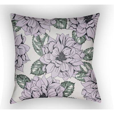 Lyda Square Throw Pillow Color: Lilac, Size: 22 H �x 22 W x 5 D