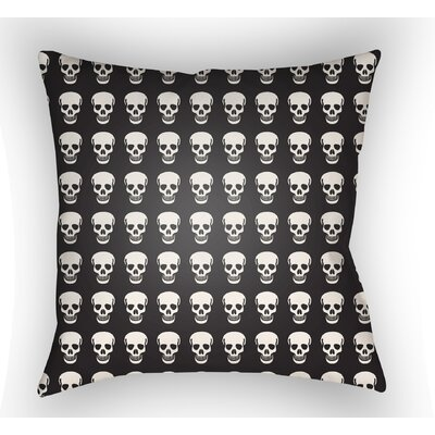 Calindra Skulls Throw Pillow Size: 20 H x 20 W x 5 D, Color: Black