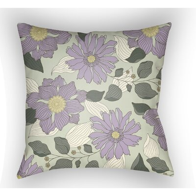 Lyda Flower Throw Pillow Color: Light Purple, Size: 20 H x 20 W x 4 D