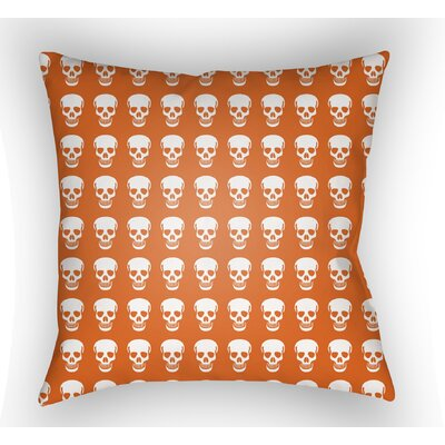 Calindra Skulls Throw Pillow Size: 20 H x 20 W x 5 D, Color: Orange