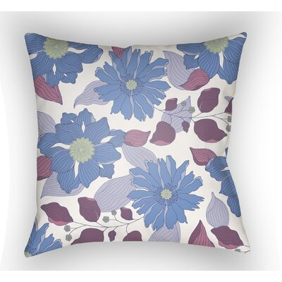 Lyda Flower Throw Pillow Size: 20 H x 20 W x 4 D, Color: Periwinkle