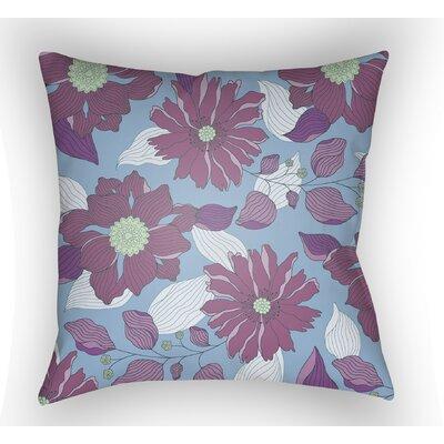 Lyda Flower Throw Pillow Size: 20 H x 20 W x 4 D, Color: Purple