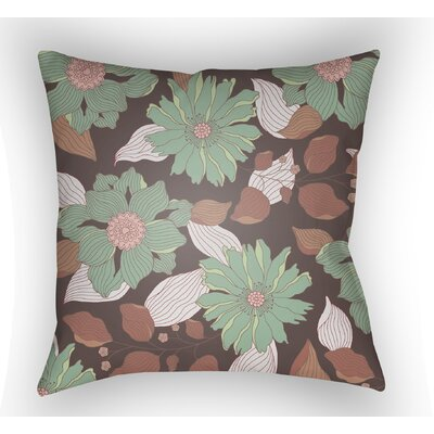 Lyda Flower Throw Pillow Size: 18 H x 18 W x 4 D, Color: Mint