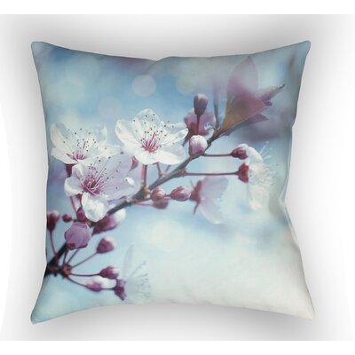 Bailee Throw Pillow Size: 18 H x 18 W x 4 D, Color: Blue