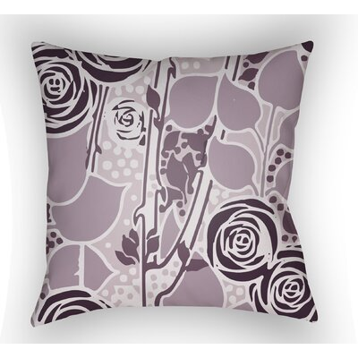 Capron Throw Pillow Size: 18 H x 18 W x 4 D, Color: Mauve