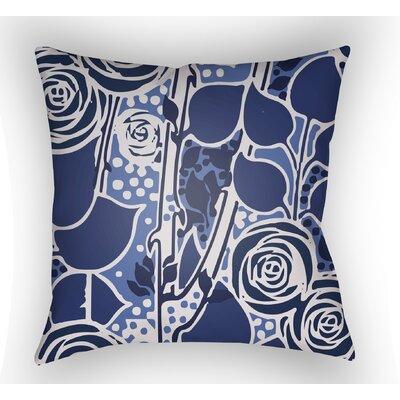 Capron Throw Pillow Size: 20 H x 20 W x 4 D, Color: Dark Blue