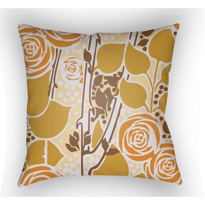 Capron Throw Pillow Size: 18 H x 18 W x 4 D, Color: Orange