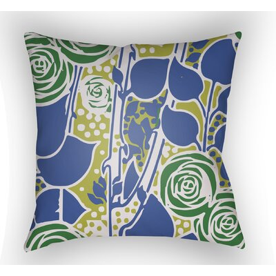Capron Throw Pillow Size: 18 H x 18 W x 4 D, Color: Blue/Green/Lime